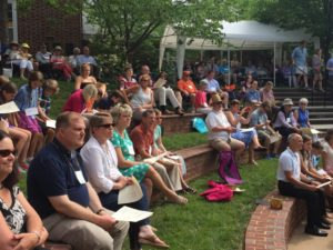 The congregations participated in the annual worship in the courtyard service.