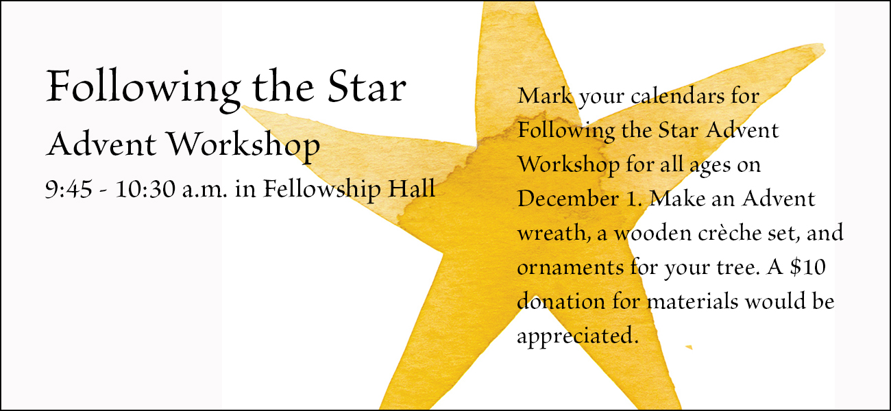 Come to the Advent Workshop!